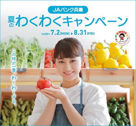 平祐奈 JAバンク兵庫 夏のわくわくキャンペーン 2018