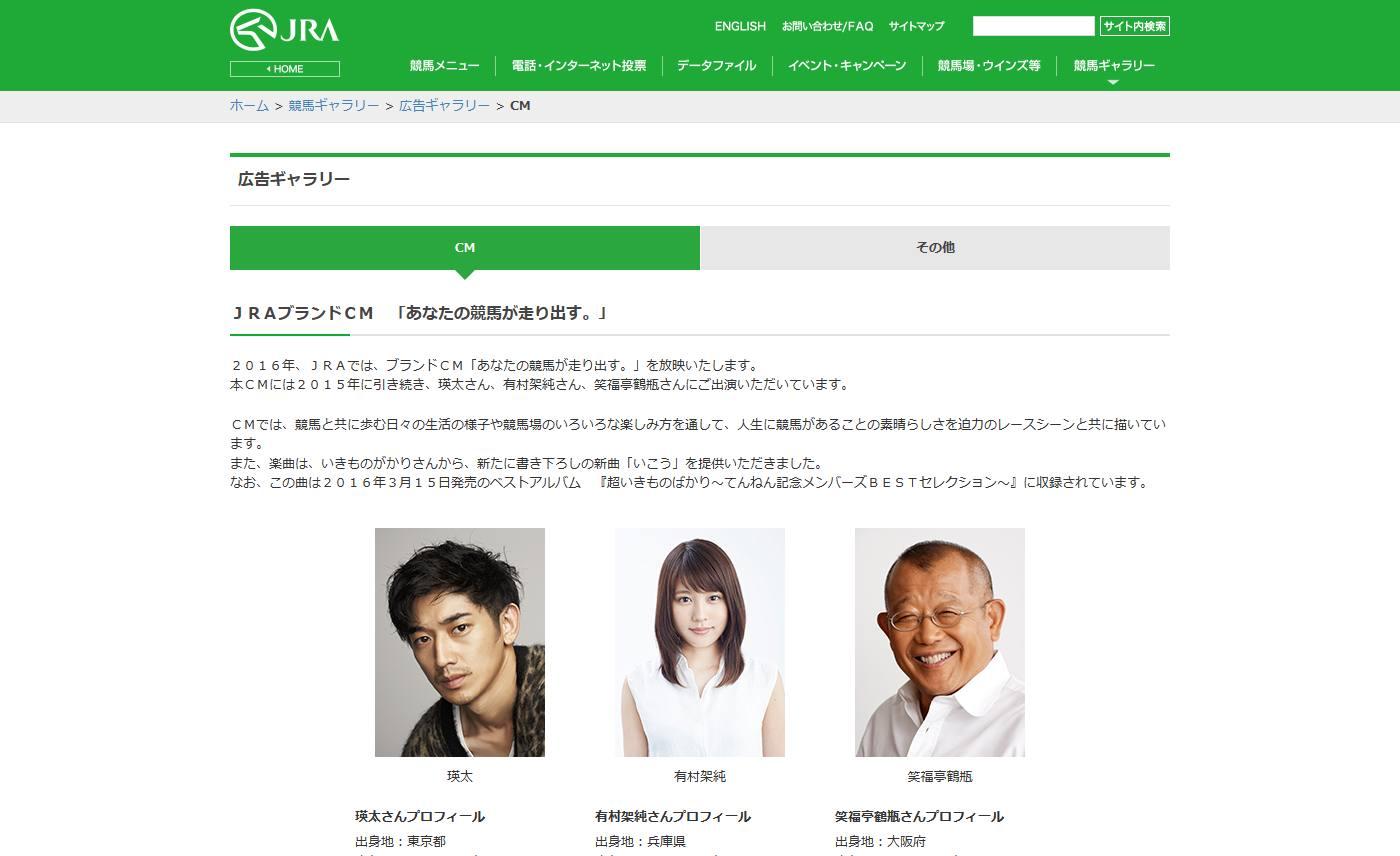広告ギャラリー CM JRA