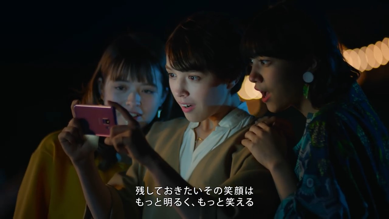 モーガン茉愛羅 CM Galaxy S9 S9+