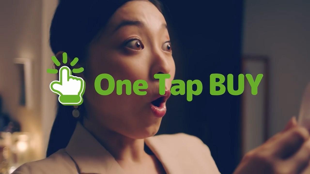 朝倉えりか One tap BUY(ワンタップバイ)WEB CM 女性ver