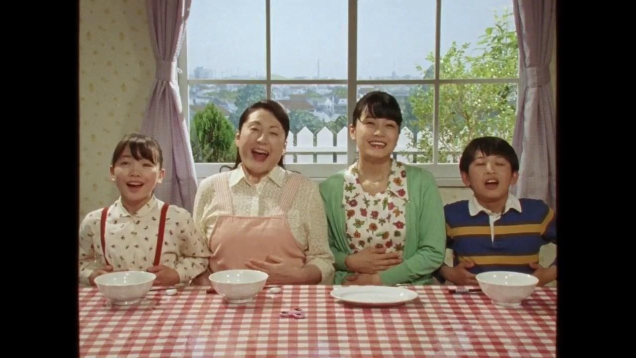 松坂慶子 深川麻衣 CM 日清の袋麺シリーズ「愛されて三世代 篇」