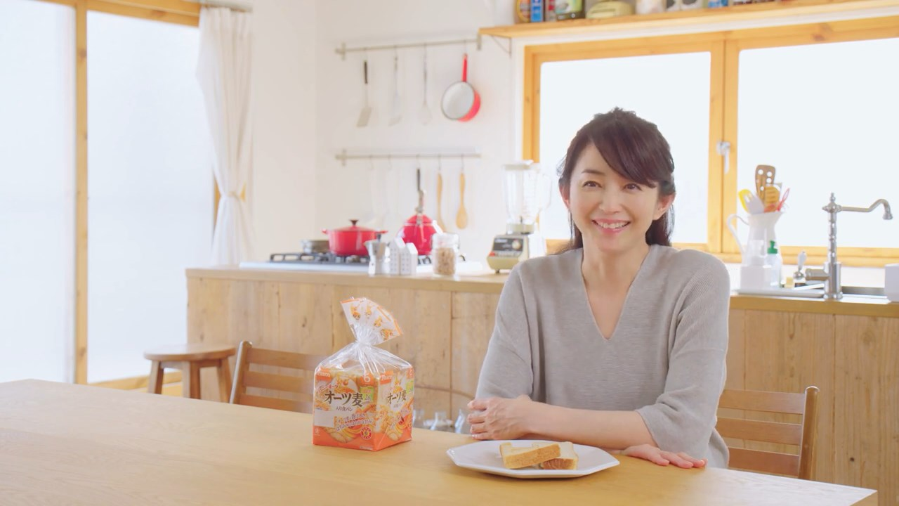 敷島製パン パスコ バラエティブレッドシリーズ「オーツ麦入り食パン」押田恵